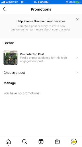 Instagram promotions