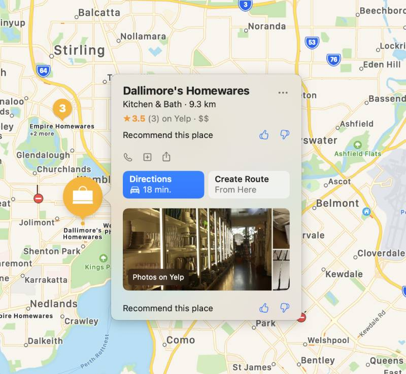 Retail promotion with Apple Maps