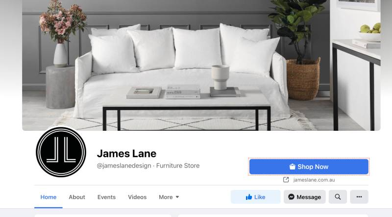 Retail store on Facebook